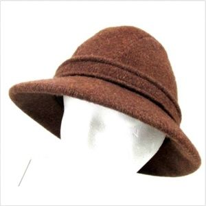 Kangol England Womens Wool Brown Medium Bucket Hat